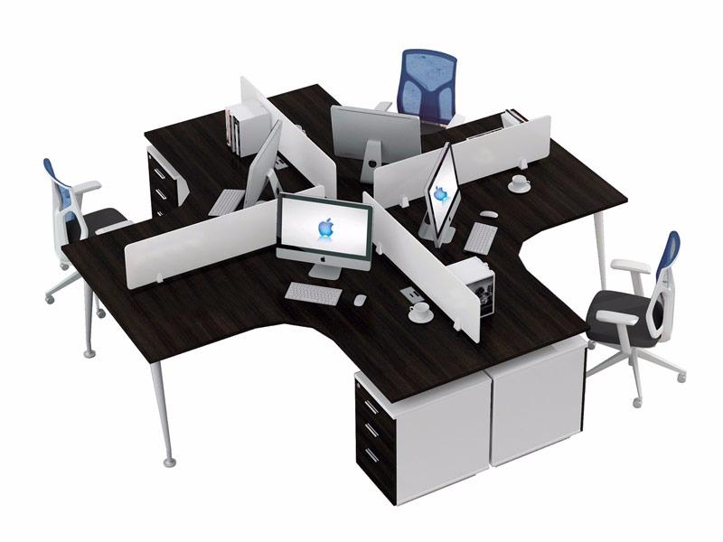π系列职员位办公桌-W0404A2