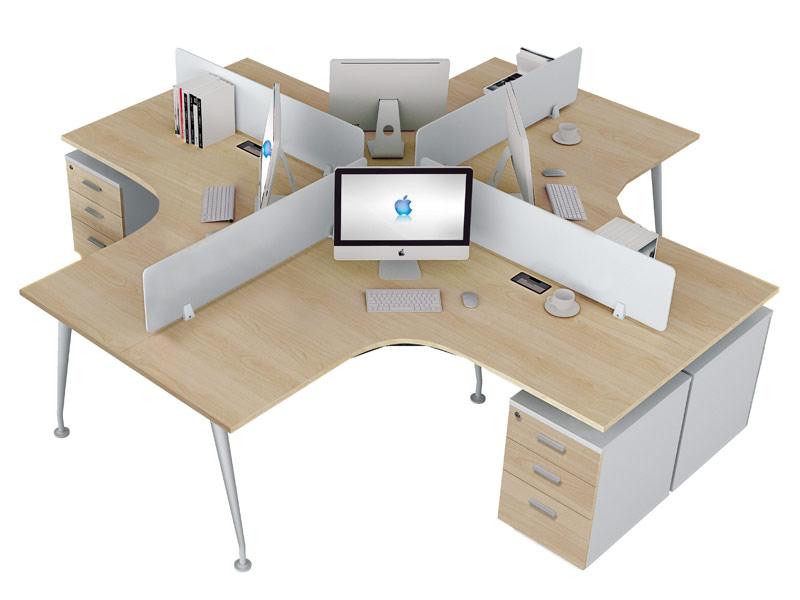 π系列职员位办公桌-W0404A2-3