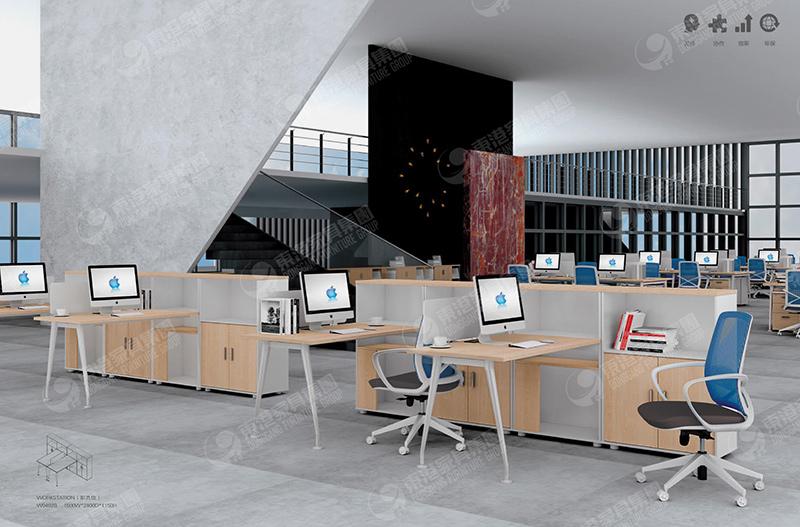 办公桌书柜组合