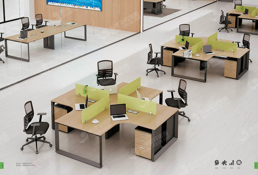 职员办公桌01